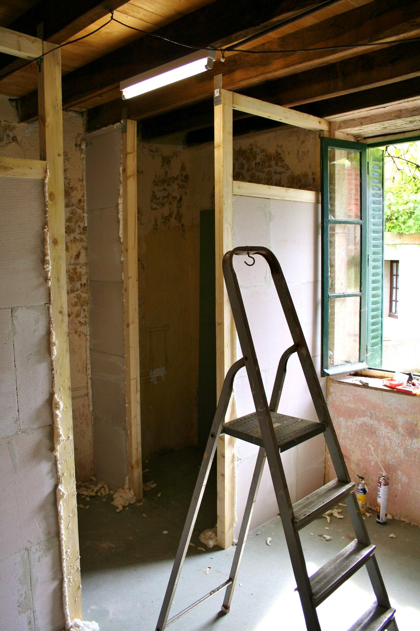 Badkamer in aanbouw